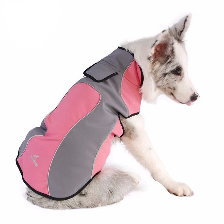 Spring waterproof Dog Fleece Clothes; Warm Outdoor Dog Coat Jacket; Easy wear Raincoat;