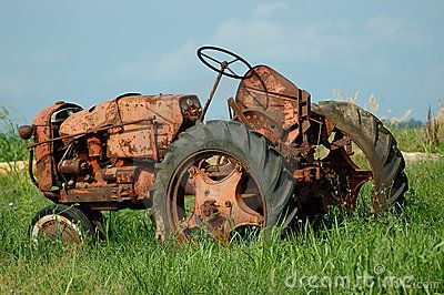 Vintage Farm Tractor by Anne Kitzman,