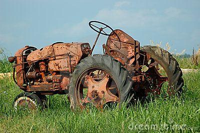 Vintage Farm Tractor by Anne Kitzman,