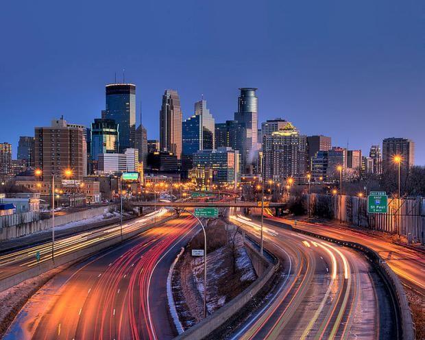 "Minneapolis-St Paul, Minnesota (got ""lost"" returning to Minneapolis from St Paul...but it was pretty)"