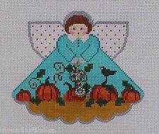 Painted Pony Designs Pumpkin Patch Angel 996ES Hand Painted Needlepoint Canvas