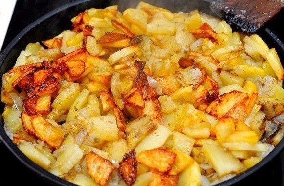Как правильно и вкусно поджарить картошечку с румяной корочкой! Соблюдая простые правила Вы приготовите ШЕДЕВР...