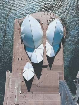 Sydney Opera House, Australia by Jorn Utzon. Finally.... A high angle view