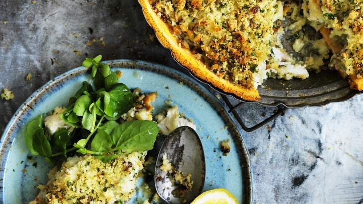 Perfect pie: Fennel and fish make a classic combination.