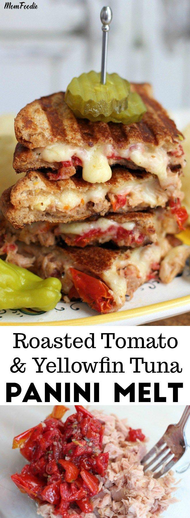 Gourmet Tuna Melt - Roasted Tomato and Yellowfin Tuna Panini Melt