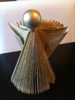 Five Go Blogging: How To Make Angels and Christmas Trees From A Paperback Book Like this.