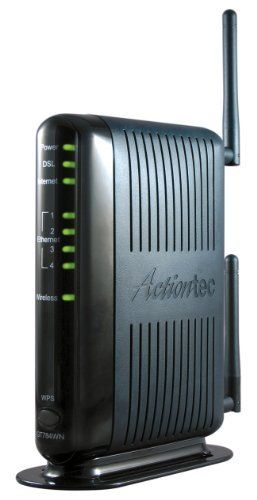 Actiontec 300 Mbps Wireless-N DSL Modem Router (GT784WN) by Actiontec. $65.41. Amazon.com                        What makes the GT784WN Modem Router a better choice for you?  802.11n Built In - the Modem Router's built-in 802.11n technology allows you to surf the Internet at speeds up to 300 Mbps, up to 6x faster than previous generations' top speeds  MIMO Smart Antenna - 802.11n also allows the use of MIMO smart antennas, which extend the range of your wireless signal...