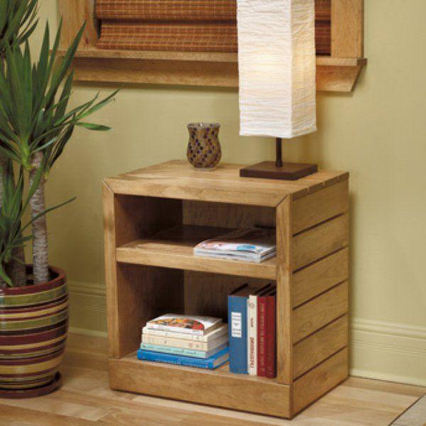 1000 id es sur le th me tables de chevet en bois sur - Fabriquer une lampe de chevet en bois ...