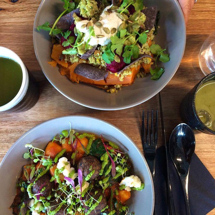 The Italy and Costa Rica longevity bowls #vegan #matchamylkbar