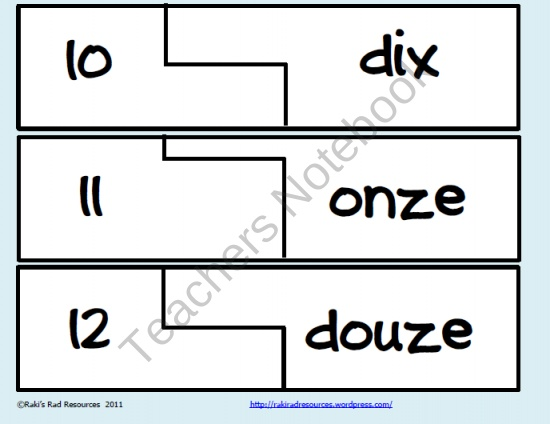 FREE Self Correcting Puzzle - French number word puzzles product from Rakis-Rad-Resources on TeachersNotebook.com