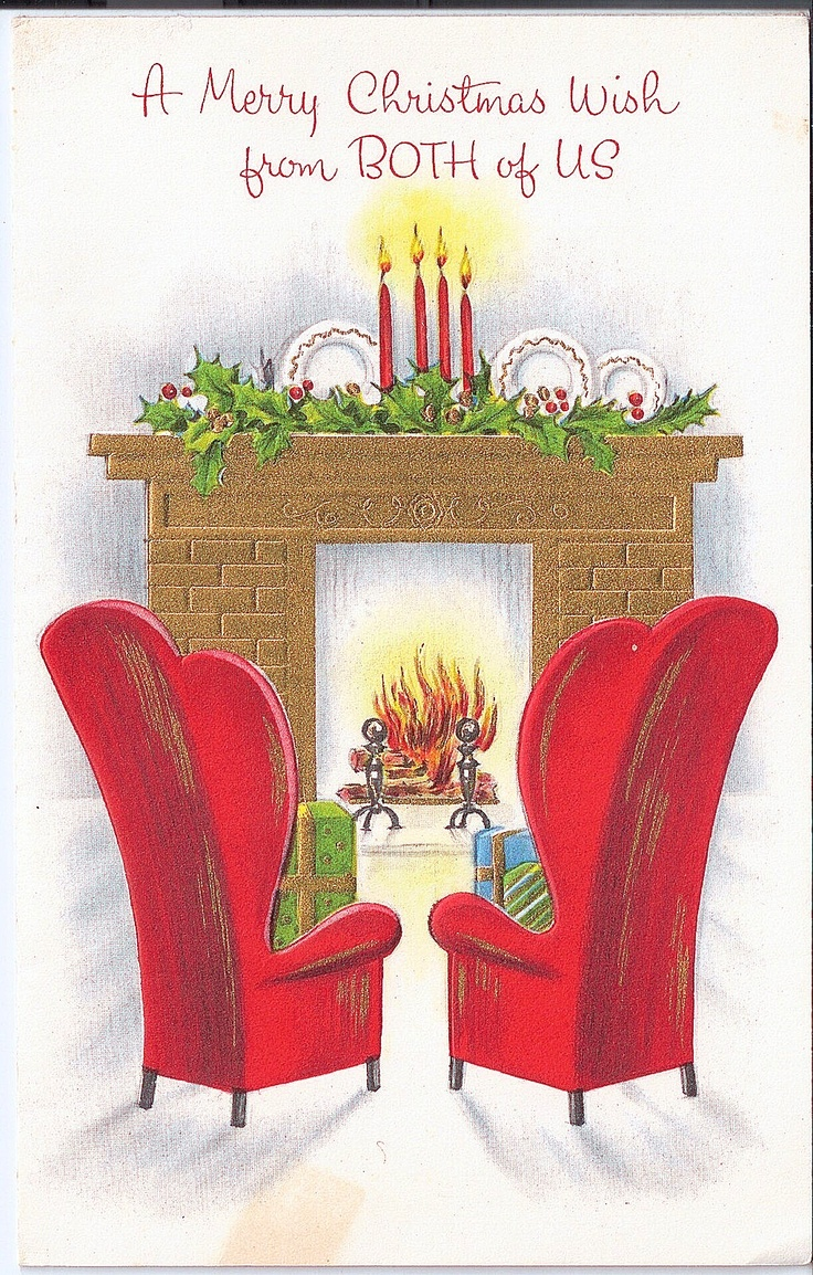 wingbacks by the christmas fire