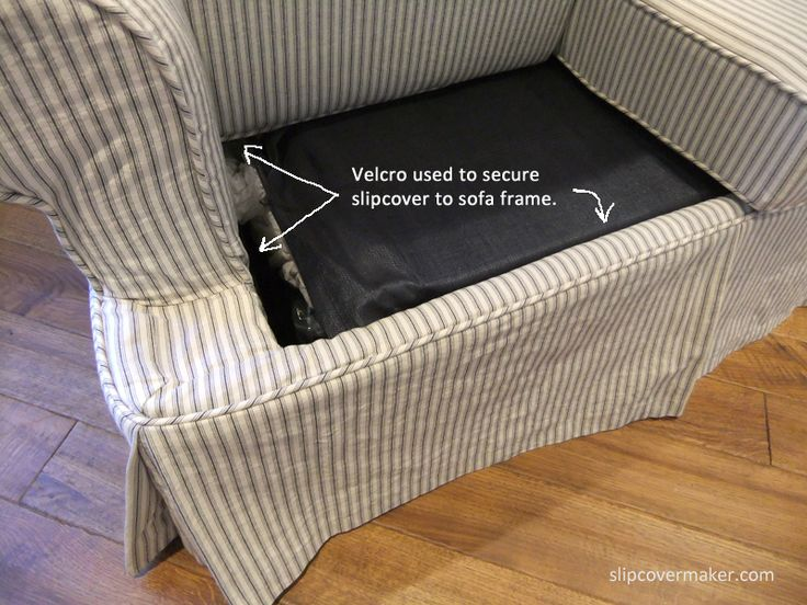 Slipcover attached with Velcro at inside.
