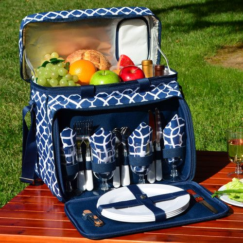 Picnic At Ascot Trellis Picnic Cooler & Reviews | Wayfair