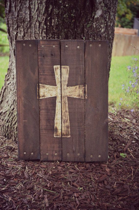 Hey  I found this really awesome Etsy listing at https   www etsy com listing 200144343 cross pallet wood art decor reclaimed