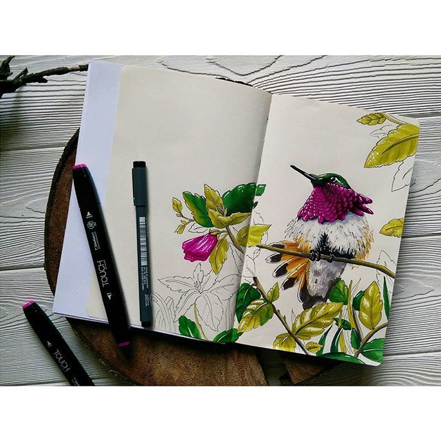 WEBSTA @ nika_urubkova - Самая маленькая, но смелая птичка)) они еще и назад…