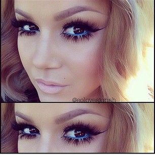 The bottom falsies are a bit much so I wouldnt wear those but they do still look good on her.