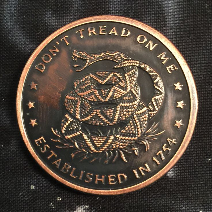 Image of Don't Tread on Me 1oz Copper Challenge Coin
