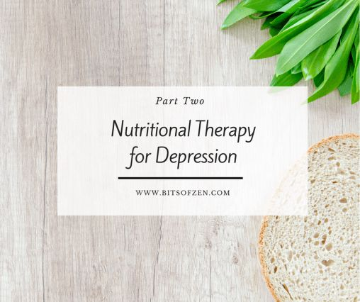 Bits of Zen - Nutrition Therapy for the treatment of depression-part 2