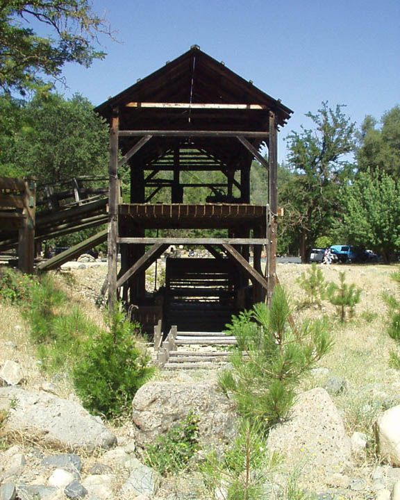 Reproduction of Sutter's Mill at Gold Discovery Site State Park  Coloma, CA