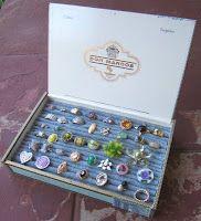 Cigar box for ring display - brilliant!