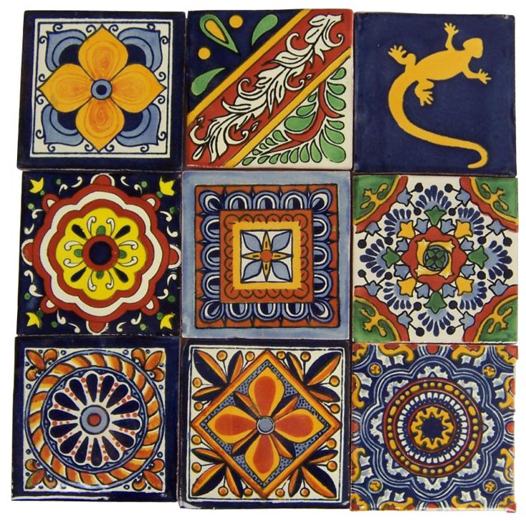 """9 4"""" x 4"""" Talavera Handpainted Mexican Tiles. Please Note: Your item is custom made for you by an Artisan in Mexico. Your item will ship in less than 10 days. Fedex Domestic Shipping with Door to door"""