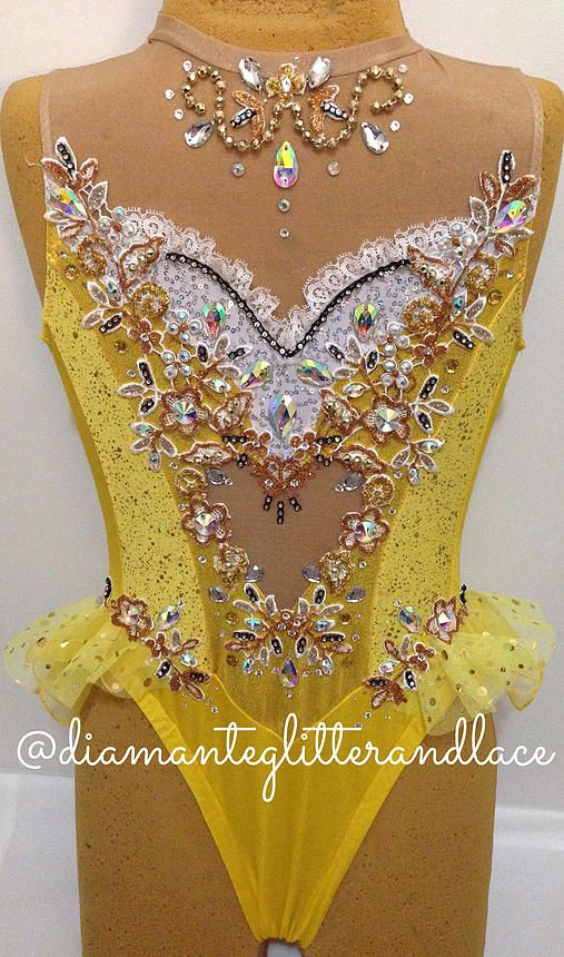 Diamante, Glitter & Lace: Leotard design blog | Mellow Yellow
