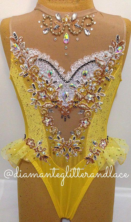 Diamante, Glitter & Lace: Leotard design blog   Mellow Yellow