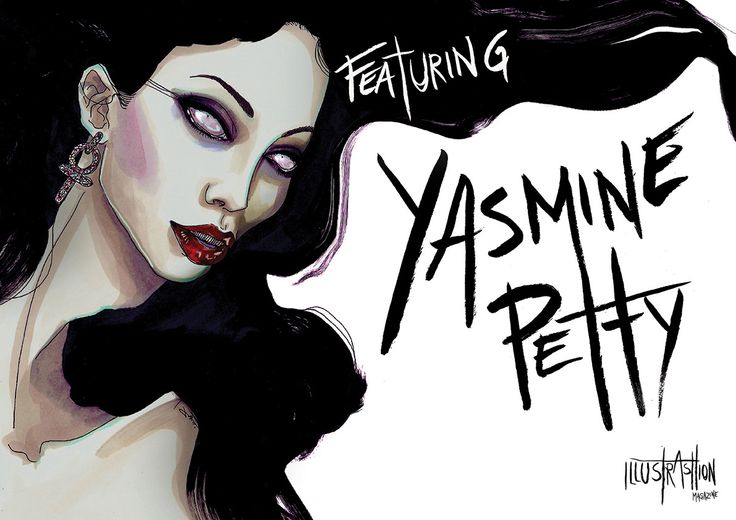 "YASMINE PETTY – ILLUSTRASHION Magazine – issue #0.1 ""Mis.Phil.Ogyny""  WWW.ILLUSTRASHION.COM"