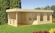 Gartenhaus Maja 40-B1 mit Terrasse (naturbelassen)