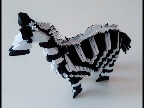 How to make 3D Origami Zebra - YouTube