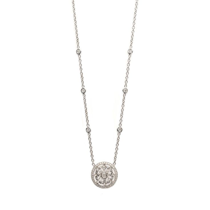 Penny Preville Marquise Shape Flower Diamond Signature Chain st6Av