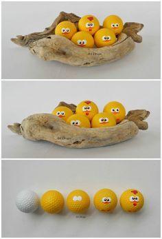 denk über die möglichkeiten nach! Golfbälle sind nicht mehr nur für Küken. lol Frohe Ostern! jh
