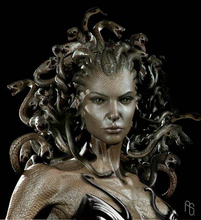 Una bella Gorgona AARON SI      MS EEUU   Medusa Gorgon
