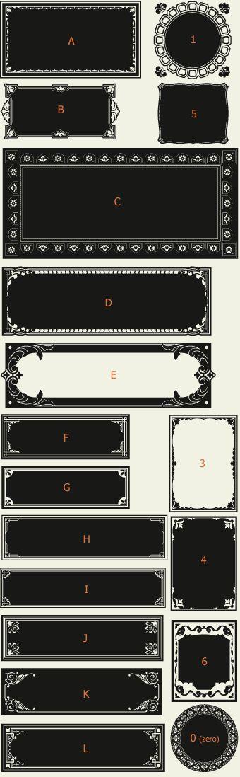Letterhead Fonts / LHF Saratoga Panels 4 / Ribbons and Panels