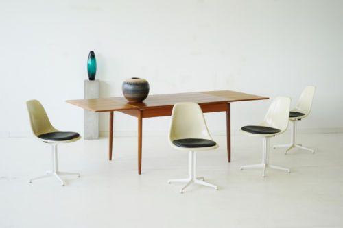 Hervorragend 4x Herman Miller Eames Side Chair La Fonda Leder Sitzkissen Stühle
