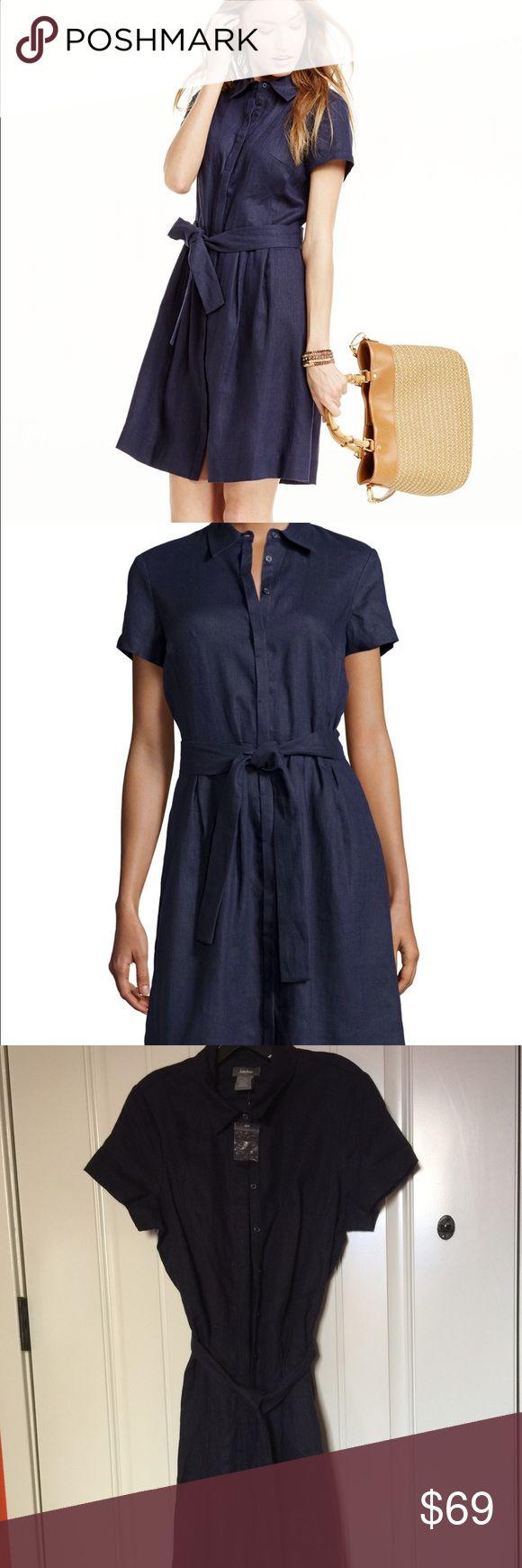 Black dress neiman marcus - Neiman Marcus Linen Navy Dress Navy Color 100 Linen Let Me Know If