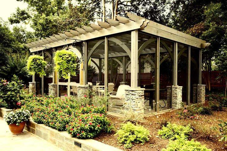 Screened Pergola. Frank Bowman designs  Screened porch  Pinterest ...