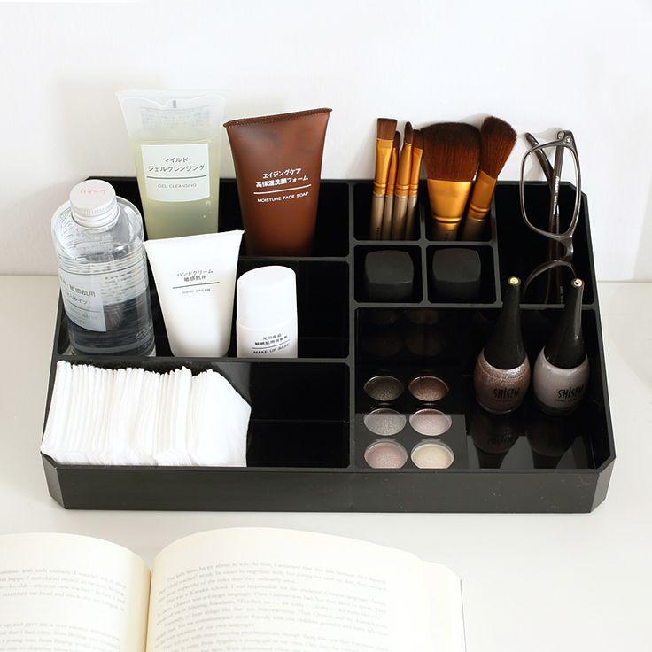 Best Big Makeup Organizer Ideas On Pinterest Mirrored - Cosmetic makeup organizer wood countertop organizer by lessandmore