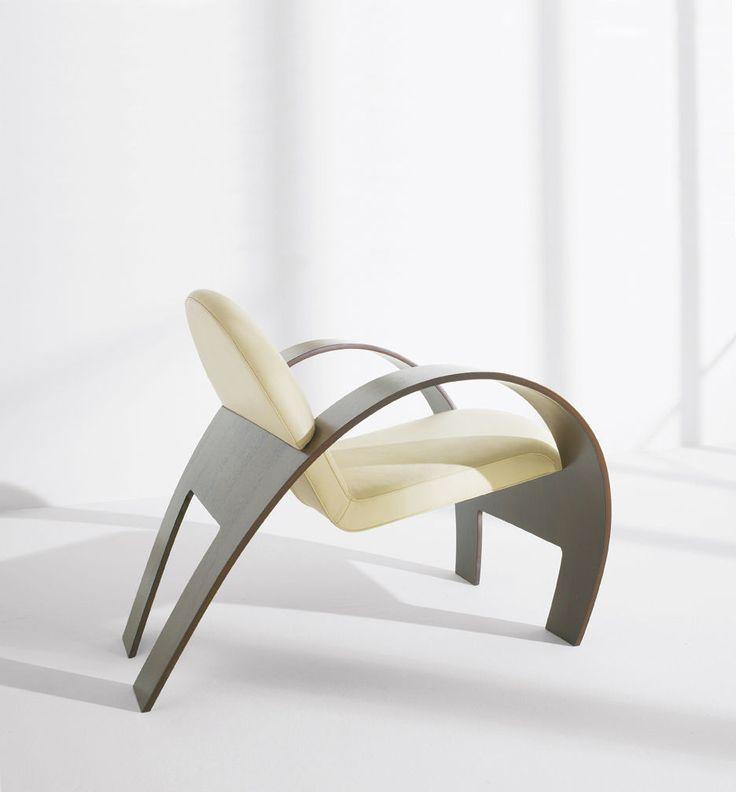 Sillón moderno   de tela   de cuero   de madera sillones cubier - designer mobel timothy schreiber stil