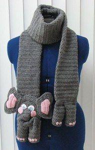 Crochet Elephant Scarf Pattern