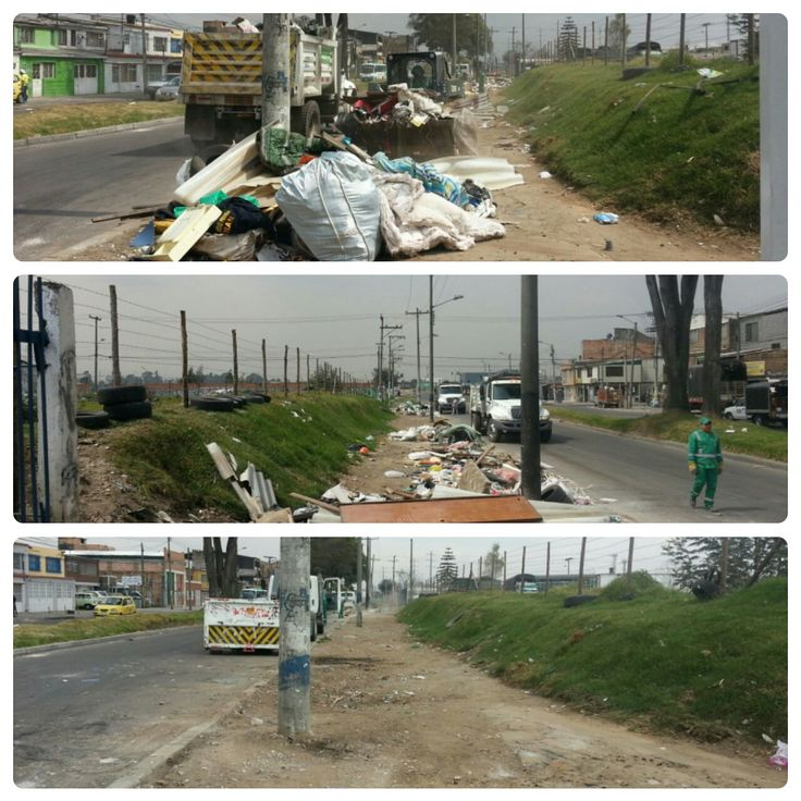 Engativá  Así trabaja Aguas de Bogotá.  Aguas de Bogotá SA ESP la empresa del posconflicto, adelanta un operativo de limpieza y habilita el sector de Las Caballerizas.