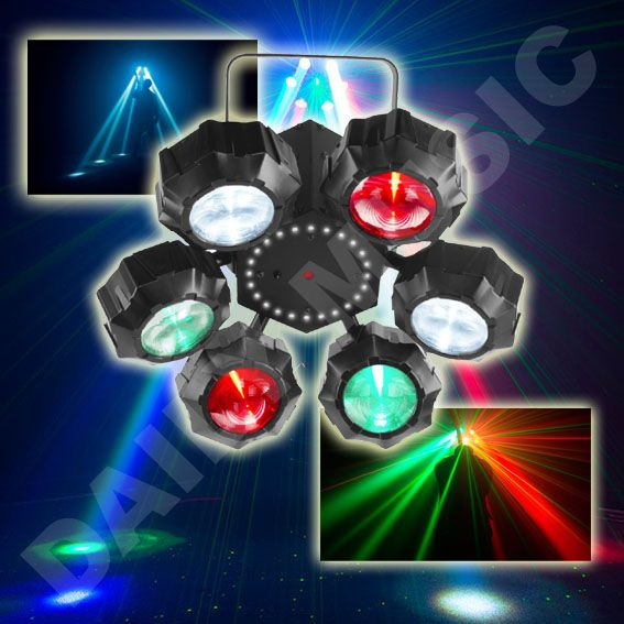 Jeux de lumière Chauvet DJ - Beamer-6FX Un jeu de lumières multi-faisceaux offrant une combinaison de 3 effets en 1 soit un stroboscope, fonction jeux de lumières et lasers rouges et verts puissants. http://www.dailymusic.fr/jeux-de-lumiere/jeux-de-lumiere-chauvet-dj-beamer-6fx-p-20714.html