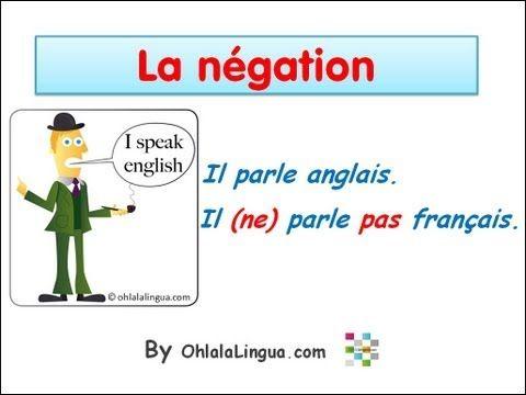 La negación (la négation)  -Il parle anglais. -Il (ne) parle pas français