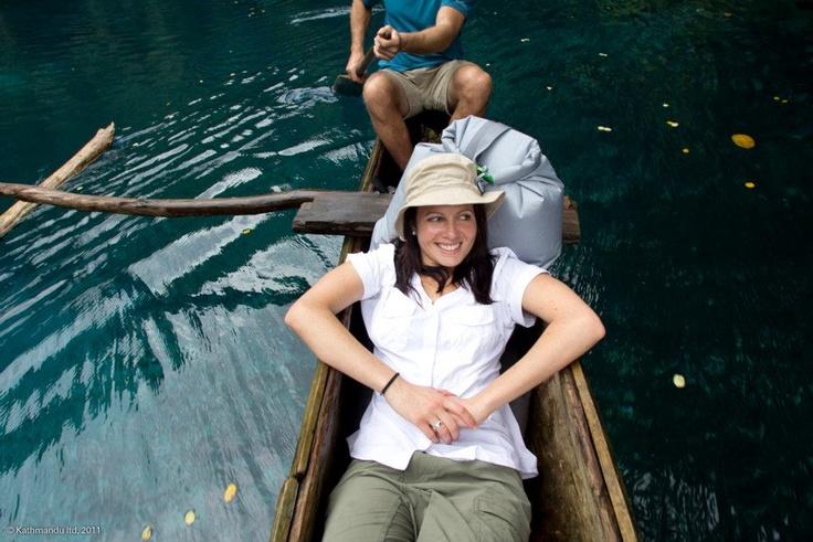 On the river in Vanuatu