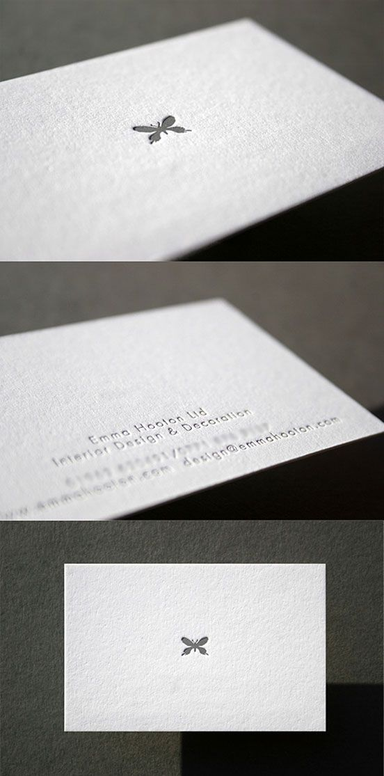 Minimal Design Letterpress Business Card | Business Cards | The Design Inspiration