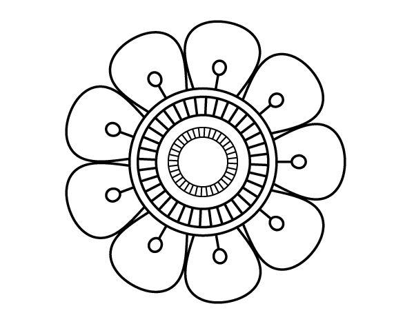 Dibujo de Mandala en forma de flor