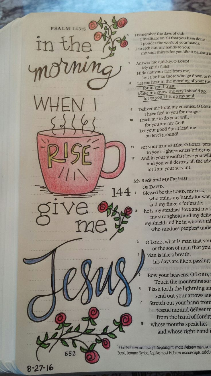 Give me Jesus Ps. 143:8