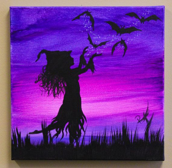 Midnight Ballet Witchy Painting on gallery wrapped by raventalker, $39.95