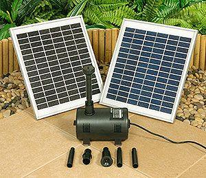 Kit de Bombeamento solar para laguinhos