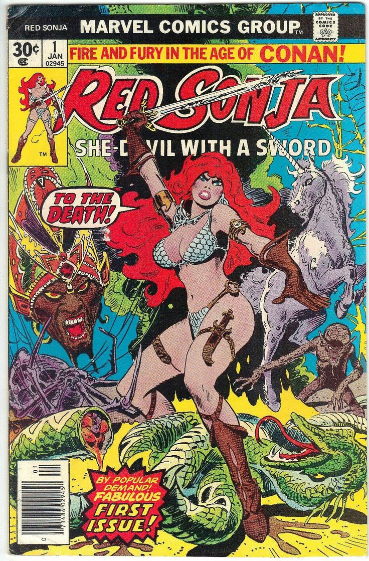 Red Sonja #1 Marvel Comics Frank Thorne Art. First introduced in Conan the Barbarian #23 & #24.  https://beachbumcomics.blogspot.com/